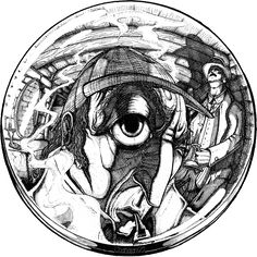 Sherlock Holmes ( Fish-Eye Sketch with Pen ) )