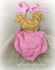 ***CUSTOMER FAVORITE*** Baby Girl Mouse Glitter Tutu Romper - Mouse Birthday Romper - First Birthday - Mouse Party