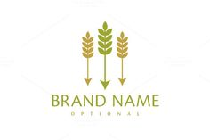 For sale. Only $29 - simple, plant, earth, sharp, agriculture, farm, arrow, feather, shoot, barley, three, harvest, grain, hunt, hunter, crop, corn, wheat, flour, target, grow, rustic, rural, seed, yield, beer, brewery, bakery, organic, logo, design, template,
