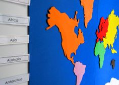 Free Montessori Geography & Continent Box Resources   the little list