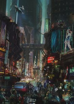 #cyberpunk #scifi city setting inspiration