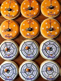 Decorated Halloween Cookies Spider Cookies Spider Web | Etsy Spider Cookies, Ghost Cookies, Star Cookies, Fall Cookies, Zombie Cookies, Thanksgiving Cookies, Halloween Pumpkin Cookies, Halloween Cookies Decorated, Halloween Desserts