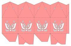 Wonder Is Paper - Compartir con Silhouette: Caja piramidal con mariposa.