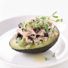 Fresh Tuna Salad with Avocado   Nan McEvoy uses albacore tuna here, but any fresh tuna will do. In addition to spooning the salad into avocado halves, she also uses it as a sandwich filling and a topping for crostini.   Food & Wine