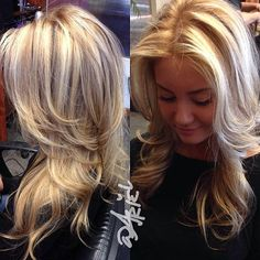 Highlights and lowlights with light layers.