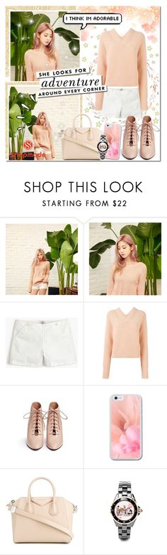 """""""Light Peach Perfection // SnapMade"""" by angelstylee ❤ liked on Polyvore featuring cutekawaii, J.Crew, Chloé, Kate Spade, Opening Ceremony, Givenchy and Old Navy"""