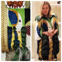Fendi fur masterpiece inspired by the Brazilian flag and it´s native birds.