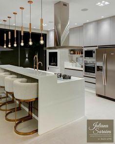 Diy Kitchen Storage, Kitchen Decor, Home Room Design, House Design, Future House, My House, Luxury Kitchens, Modern Kitchen Design, House Goals