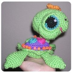Sea Land Turtle Crochet Pattern Digital PDF Soni and by Peggytoes, $5.95