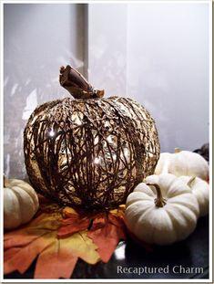 DIY Dollar Store Illuminated Pumpkin