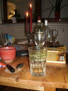 Mein Weinglas auf dem Tisch