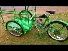 Triciclo de reparto con motor mosquito www.bicicletasvergara.cl - YouTube Bicycle, Motorcycle, Vehicles, Youtube, Motors, Bike, Bicycle Kick, Trial Bike, Biking