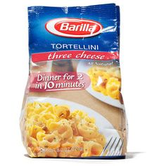 2012 Supermarket Tortellini WINNER (also recommended  Seviroli Cheese Tortellini, Buitoni Three Cheese Tortellini, Rosetto Cheese Tortellini)