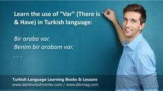 """Free Turkish lessons: Var and Yok in Turkish language. VAR The word """"var is """"There is / are"""" in Turkish. For example: Bir problem var. There is a problem. VAR MI? When you add """"mı?"""" question word to """"var"""", it… Indirect Speech, Reported Speech, Turkish Lessons, Turkish Language, Grammar Lessons, Ali, This Or That Questions, Languages, Teaching Grammar"""