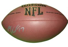 Minnesota Vikings Mike Wallace signed NFL Wilson full size football w/ proof photo.  Proof photo of Mike signing will be included with your purchase along with a COA issued from Southwestconnection-Memorabilia, guaranteeing the item to pass authentication services from PSA/DNA or JSA. Free USPS shipping. www.AutographedwithProof.com is your one stop for autographed collectibles from Minnesota sports teams. Check back with us often, as we are always obtaining new items.