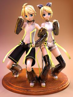 Kagamine Rin and Len by on DeviantArt Anime Figures, Action Figures, Electric Angel, Kagamine Rin And Len, Tokyo Otaku Mode, Good Smile, Vocaloid, Gundam, Lens
