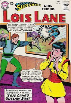 DC Comics Superman`s Girlfriend Lois Lane January 1964 G Dc Comic Books, Comic Book Covers, Comic Book Characters, Comic Character, Lois Lane, Dc Comics, Planet Comics, Superman Girlfriend, Superman Comic