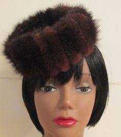 Vintage Mink Fur Pill Box Hat by MISSVINTAGE5000 on Etsy, $30.00