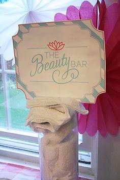 "Cute entrance idea.. maybe ""the beauty starts here"""