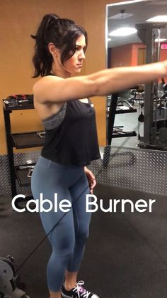 This is a trifecta of shoulder-burning cable exercises. It consists of three exercises in one. 1 - lateral flyes x 8 2 - front flyes x 8 3 - rear flyes x 8 Don't stop until you're finished with all three! #shoulderworkout #upperbodyworkout