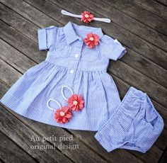 baby girl dress,headband and barefoot sandal set,baby clothes,girl clothes,baby dress,baby shower gift,baby girl gift,newborn clothes by Aupetitpied on Etsy https://www.etsy.com/listing/237681430/baby-girl-dressheadband-and-barefoot