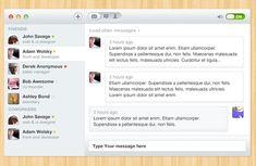 Chat UI Design PSD