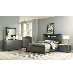 Add some style to your home with this modern Motivo Bedroom Group