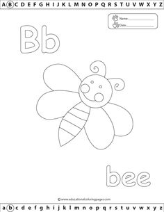 FREE Quality And Fun Educational Alphabet Coloring Pages