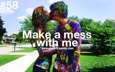 have a paint fight with my guy! Okinawa, Paar Bucket Listen, Choses Cool, Ck Summer, Summer Ideas, Summer 2014, Summer Nights, Friday Nights, Summer Dates