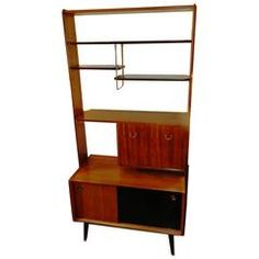 view this item and discover similar screens and room dividers for sale at teak display shelves and room divider with finished back and fall front desk