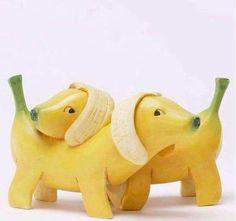 #banane #funny  #;-) #sculpture sur #fruit