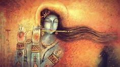 Krishna playing