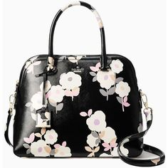 Kate Spade Cameron Street Floral Margot ($328) ❤ liked on Polyvore featuring bags, handbags, purses, kate spade, flower handbags, floral print purse, kate spade purses and floral purse