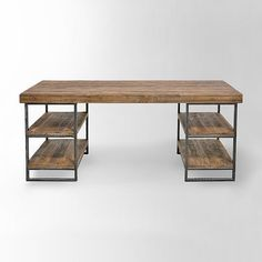 computer desk, reclaimed wood desk, office desk, table, rustic