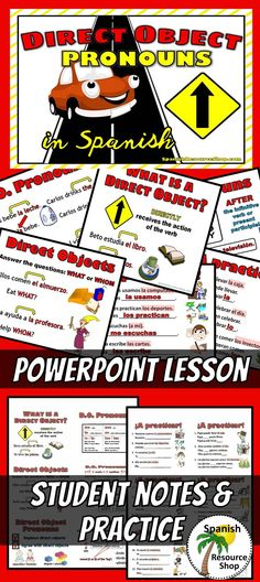 Spanish direct object pronouns made easy with this interactive PowerPoint bundle!