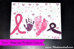 Canvas Painting Ideas for Kids, great Valentines Day gift!