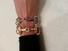 Gorgeous Bit Bracelets for Sale https://www.etsy.com/listing/204773243/new-large-gold-bit-snaffle-bit-bracelet