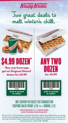 Valid at Krispy Kreme Expires: 01/31/15