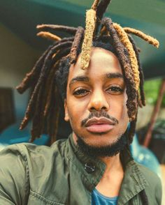 here are various hairstyles for black men with long hair from which they can choose as per their hair type or desire. Black men need the right hairstyle tha Dreadlock Hairstyles For Men, Black Men Hairstyles, Cool Hairstyles, Creative Hairstyles, Latest Hairstyles, Crew Cut Hair, Long Hair On Top, Natural Hair Styles, Long Hair Styles