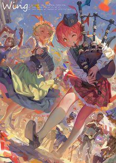 love the colors of this anime Girls Anime, Anime Art Girl, Art Et Illustration, Character Illustration, Anime Artwork, Cool Artwork, Kawaii, Lagann Gurren, Art Anime Fille