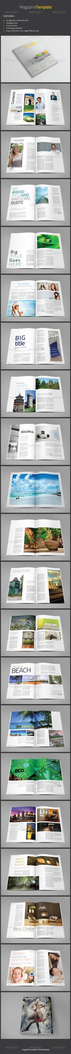 Smart Clean Magazine Template — InDesign INDD #magazine #clean • Available here → https://graphicriver.net/item/smart-clean-magazine-template/4661478?ref=pxcr