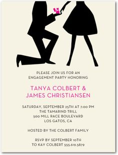 engagement party invites?