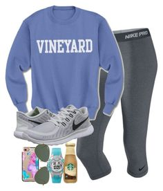 """""""just got done w/ cross country (I saw the boy I like☺️)"""" by judebellar03 ❤ liked on Polyvore featuring NIKE, Casetify, Ray-Ban, Timex and country"""
