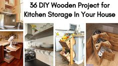 36 DIY Wooden Project for Kitchen Storage In Your House Farmhouse Kitchen Canisters, Kitchen Storage, Storage Area, Kitchen Cabinets, Diy Wooden Projects, Wooden Diy, Closet Hacks, Little Kitchen, Diy Woodworking