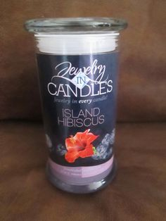 ~NEW~ JIC Jewelry In Candles Island Hibiscus Candle