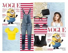 """Minions"" by brooklynb39 ❤ liked on Polyvore featuring Paige Denim, Dr. Martens, Wet Seal, Quay, Forever 21 and 3.1 Phillip Lim"
