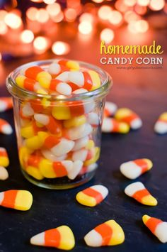 Homemade Candy Corn Recipe halloween ingredients