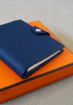 Orange and blue notebooks. I can't resist beautiful office supplies.