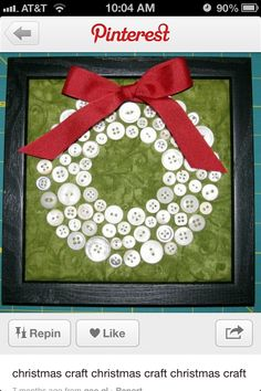 Christmas wreath button craft