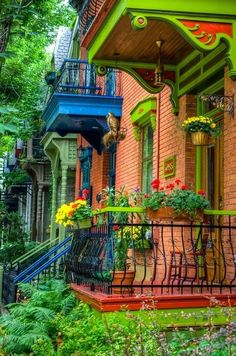 Front Porch Montreal Canada - the colors!!!